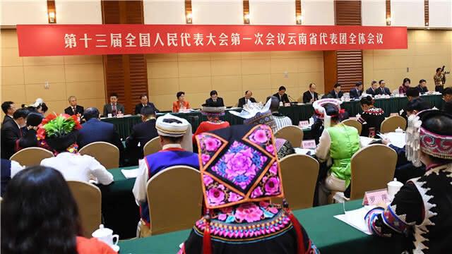 云南省代表团全体会议向中外媒体开放