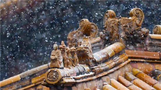 美翻!故宫初雪照 每张都能当屏保