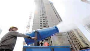 安装雾炮机 扬尘在线测,昆明建筑工地积极落实文明施工