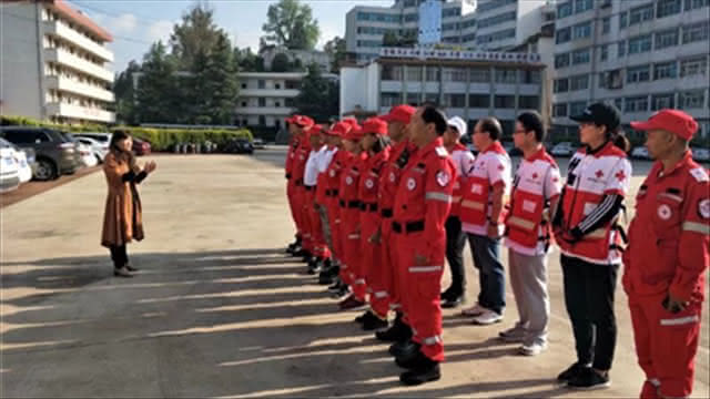 昆明红十字救援队嵩明分队 时刻准备着