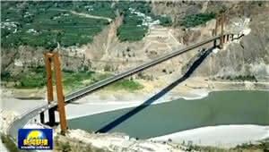 历经5年的艰苦施工 金沙江上最大跨度悬索桥建成