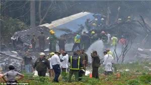 古巴坠机事故致100余人遇难 仅3人幸存