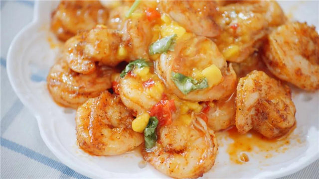 酸辣芒果虾!夏日关于虾的最美好吃法