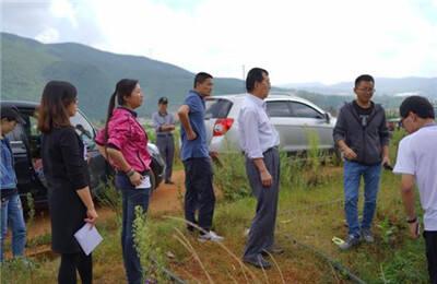 市国土局验收检查晋宁县双河荒川土地整治项目