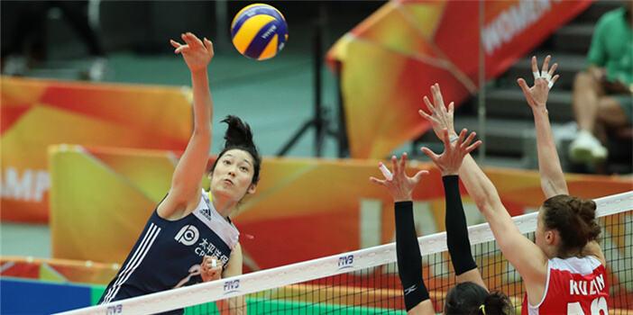 女排世锦赛:中国胜阿塞拜疆