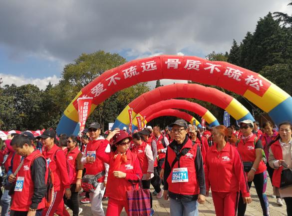 欢度重阳节 400余人大观公园健步走