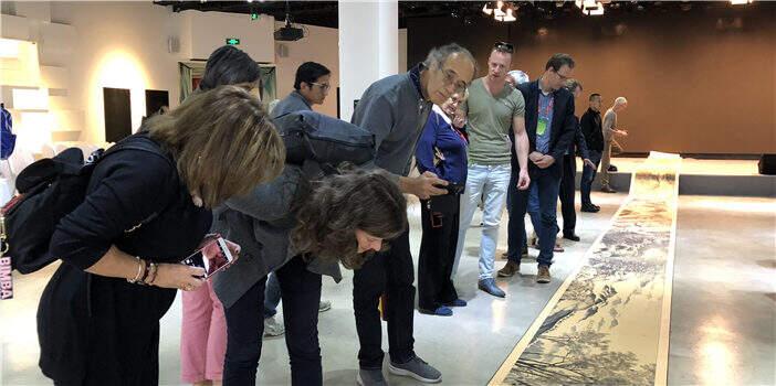 60余名国外艺术爱好者来昆交流 李昆武画作引追捧