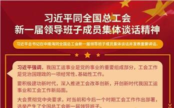图解|习近平与全国总工会新一届领导班子的集体谈话