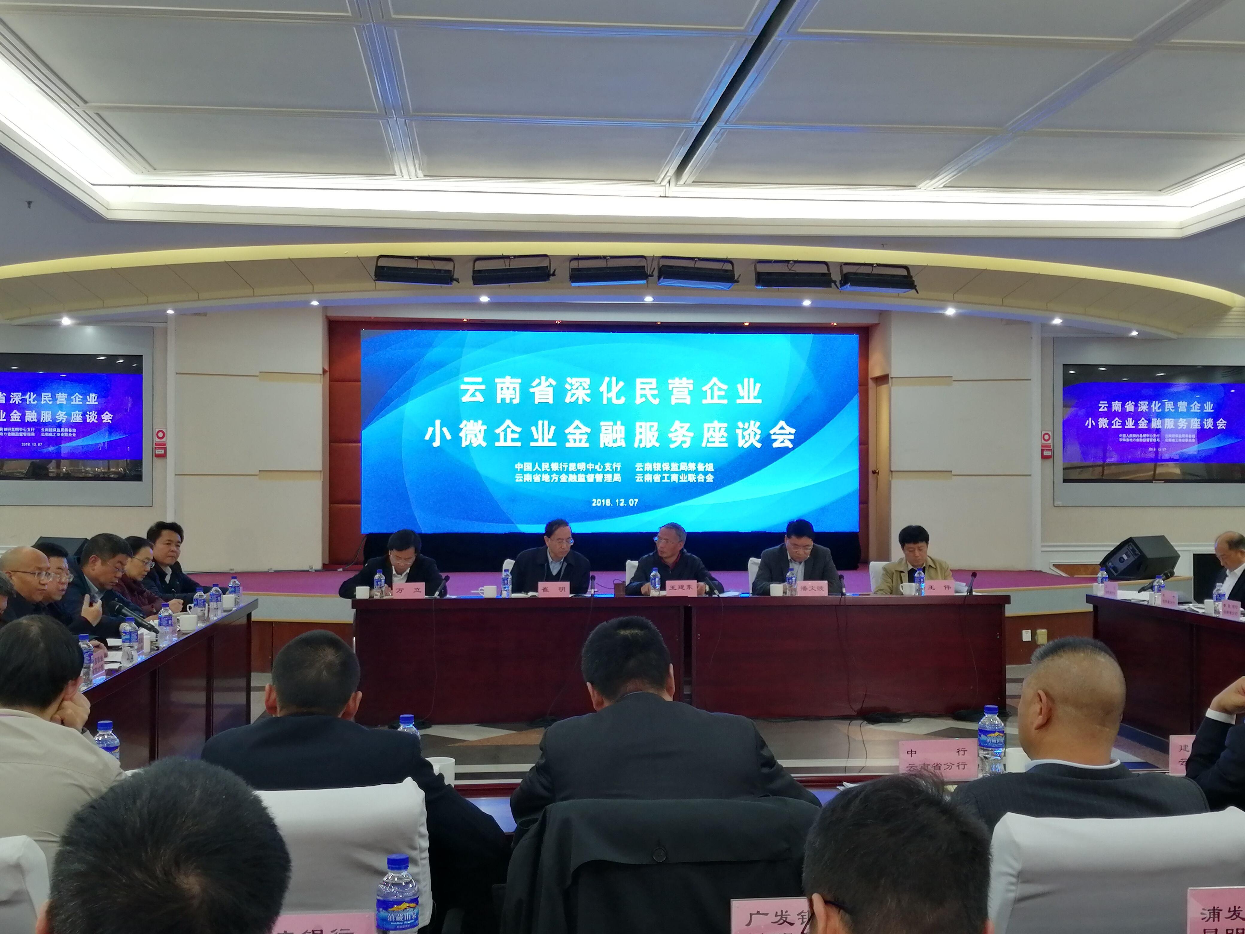 云南开展深化民营企业小微企业金融服务座谈会