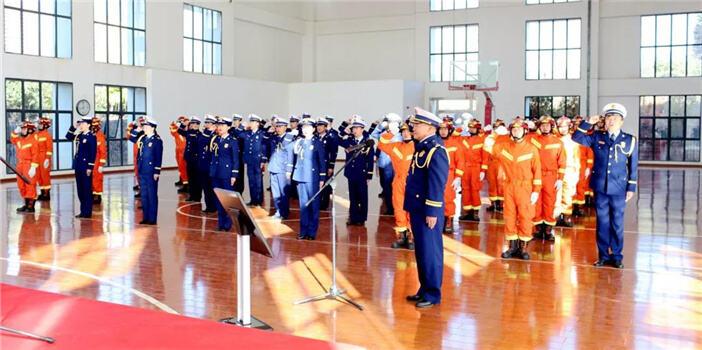 度假区举行消防救援大队授衔和换装仪式