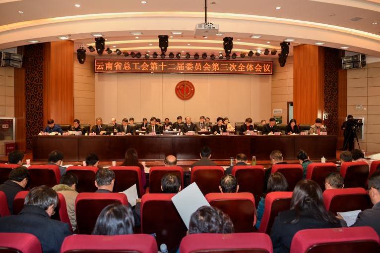 省总工会十二届委员会第三次全体会议召开