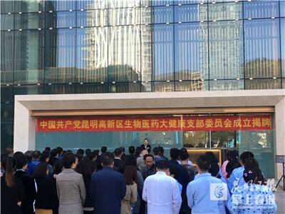 昆明高新区生物医药大健康党支部成立