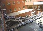 传北京某中学打饭排队似春运