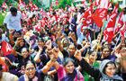印度国企职工大罢工