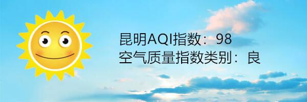 昆明空气质量报告 4月21日