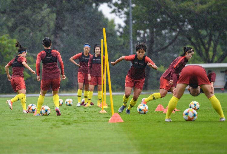 中国队备战女足世界杯16强赛