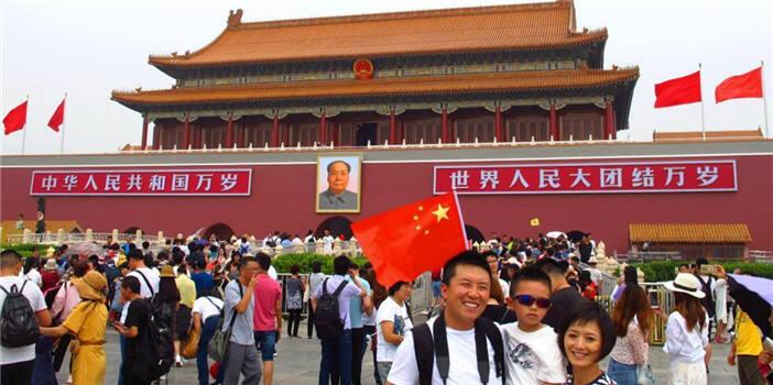 北京天安门城楼新妆 喜迎新中国成立七十周年