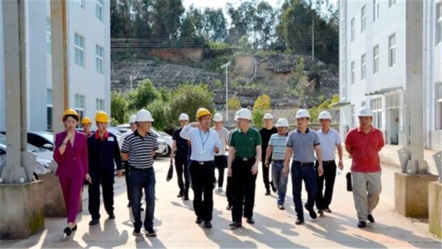 西山区委领导调研工业企业重点项目建设情况