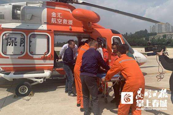 全力转运重症患者!金汇救援直升机紧急驰援400多公里