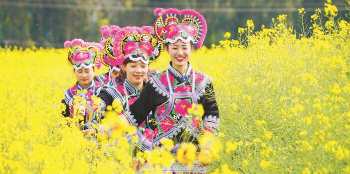 楚雄永仁第四届油菜(芸薹)文化旅游节开幕
