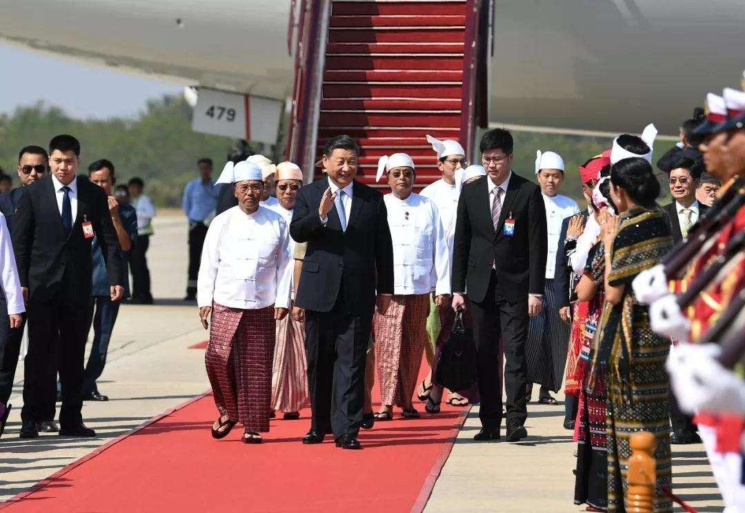高清大图来了!习主席新年首访,缅甸最高规格迎接!