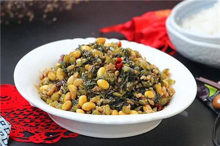 佐粥拌饭的圣品!自己家炒的雪菜焖黄豆特别香