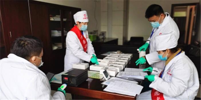 高新区市场监管分局完成疫情防控红外线电子体温计比对工作