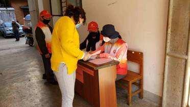 嵩明县人社局积极主动做好所属住宿小区防疫工作
