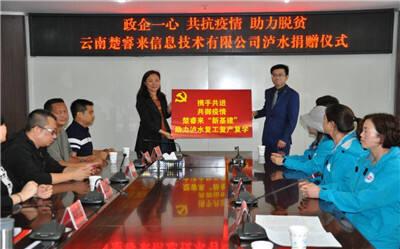 爱心企业向泸水市政府捐赠100万元抗疫系统及设备