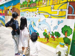 """昆明""""首个节水文化墙""""精彩亮相钱局街"""