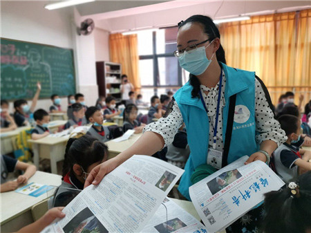 提高自我防护意识!盘龙区东庄社区科普宣传进校园