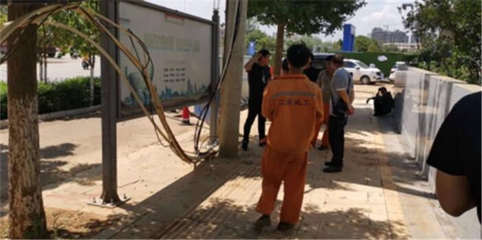 整治电缆掉落问题!呈贡区消除城市安全隐患