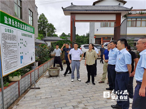 建行云南省分行行长杨中仑赴昭通调研定点扶贫工作