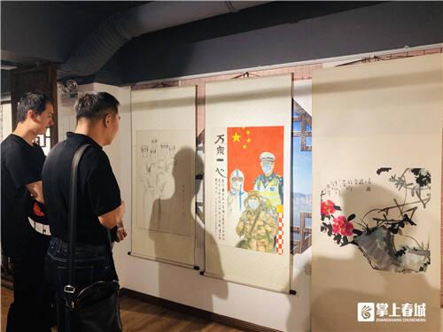 呈贡区举行书画展庆祝中国共产党成立99周年